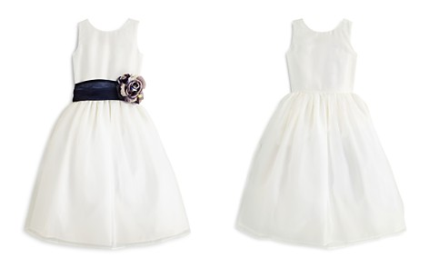 US Angels Girls' Mix & Match Organza Dress, Sash & Rosebud - Big Kid - Bloomingdale's_2