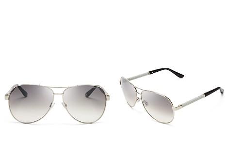 Jimmy Choo Lexie Aviator Sunglasses, 61mm - Bloomingdale's_2