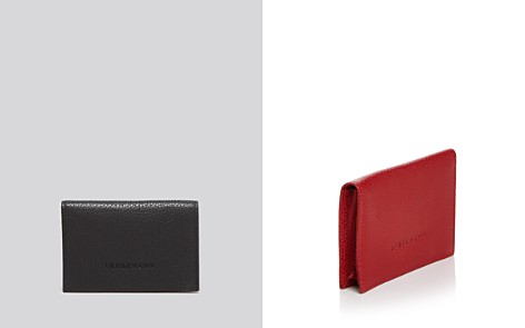 Longchamp Veau Foulonne Card Case - Bloomingdale's_2