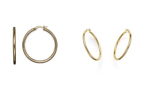 Roberto Coin 18K Yellow Gold Hoop Earrings - Bloomingdale's_2