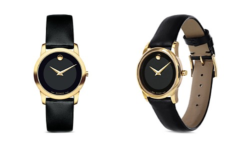 Movado Museum Classic Watch with Black Calfskin Strap, 28mm - Bloomingdale's_2
