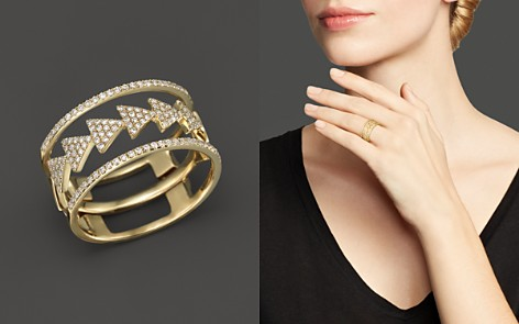 Diamond Triple Stack Ring in 14K Yellow Gold, .35 ct. t.w. - 100% Exclusive - Bloomingdale's_2