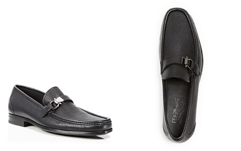 Salvatore Ferragamo Men's Muller Textured Leather Moc Toe Loafers - Bloomingdale's_2