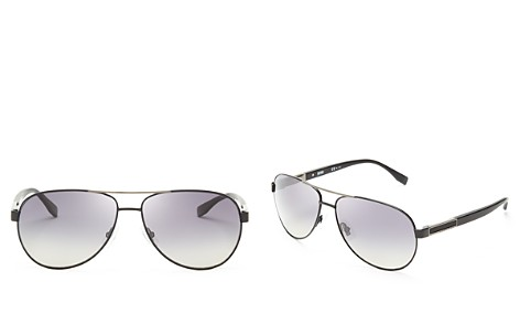 BOSS HUGO BOSS Polarized Metal Aviator Sunglasses - Bloomingdale's_2