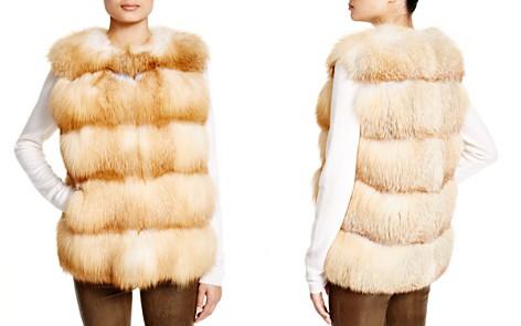 Maximilian Grooved Nafa Fox Vest - Bloomingdale's Exclusive_2