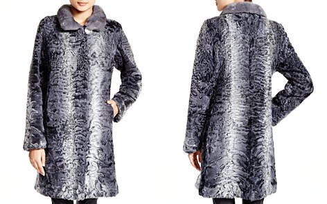 Maximilian Lamb Coat with Mink Collar - Bloomingdale's_2