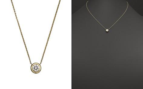 "Roberto Coin 18K Yellow Gold Diamond Bezel Necklace, 16"" - Bloomingdale's_2"
