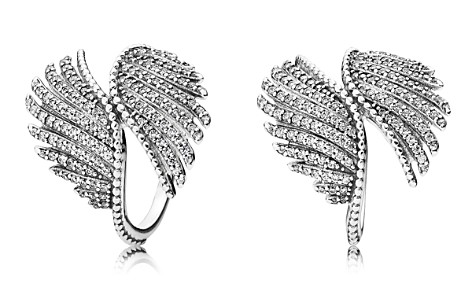 PANDORA Ring - Sterling Silver & Cubic Zirconia Majestic Feathers - Bloomingdale's_2