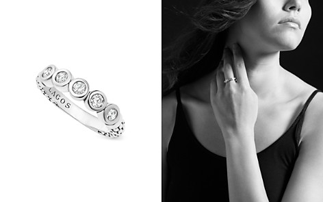 LAGOS Sterling Silver Five Diamond Stacking Ring - Bloomingdale's_2
