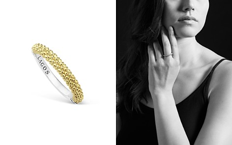 LAGOS Sterling Silver and 18K Gold Caviar Beaded Stacking Ring - Bloomingdale's_2