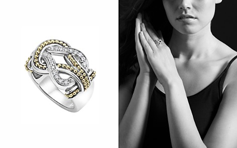 LAGOS Sterling Silver and 18K Gold Newport Diamond Ring - Bloomingdale's_2