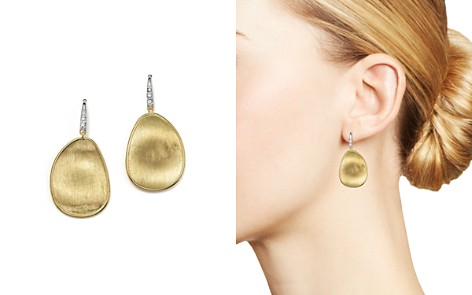 Marco Bicego 18K Yellow Gold and Diamond Lunaria Drop Earrings - Bloomingdale's_2