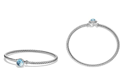 David Yurman Châtelaine Bracelet with Blue Topaz - Bloomingdale's_2