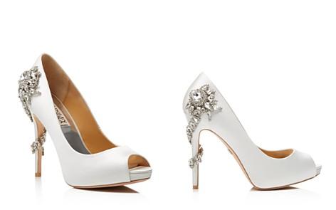 Badgley Mischka Royal Embellished Peep Toe High-Heel Pumps - Bloomingdale's_2