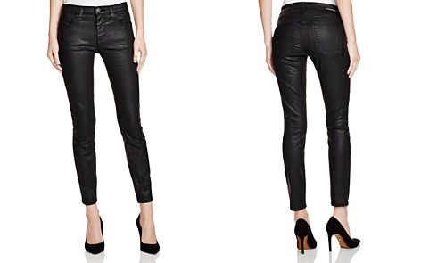 Current/Elliott Coated Stiletto Jeans in Black - Bloomingdale's_2