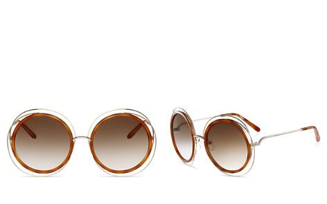 Chloe Carlina Oversized Round Sunglasses, 58mm - Bloomingdale's_2