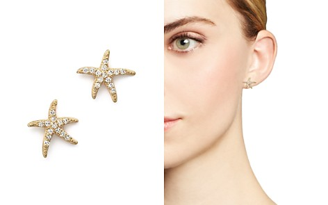 KC Designs Diamond Starfish Earrings in 14K Yellow Gold - Bloomingdale's_2