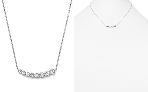 "KC Designs Diamond Graduating Bezel Pendant Necklace in 14K White Gold, 16"" - Bloomingdale's_2"