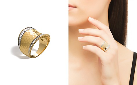 John Hardy Palu 18K Gold & Diamond Pavé Small Saddle Ring - Bloomingdale's_2