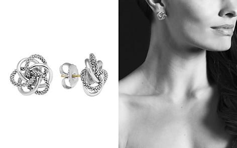 Lagos Sterling Silver Knot Caviar Earrings Bloomingdale S 2