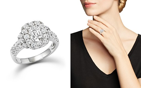 Emerald Cut Diamond Engagement Ring in 18K White Gold, 2.20 ct. t.w. - 100% Exclusive - Bloomingdale's_2