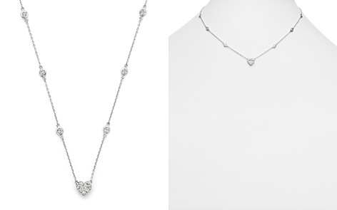 Diamond Station Necklace with Heart Pendant in 14K White Gold, 1.25 ct. t.w. - Bloomingdale's_2