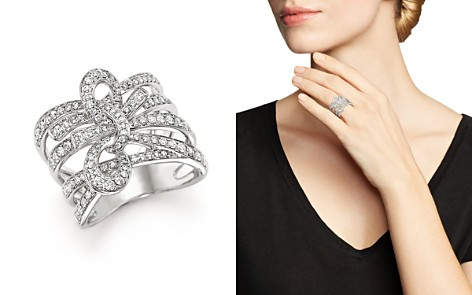 Diamond Multi-Row Bow Ring in 14K White Gold, 1.0 ct. t.w. - 100% Exclusive - Bloomingdale's_2