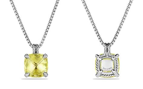 David Yurman Châtelaine Pendant Necklace with Lemon Citrine and Diamonds - Bloomingdale's_2