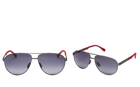 BOSS HUGO BOSS Polarized Aviator Sunglasses, 63mm - Bloomingdale's_2