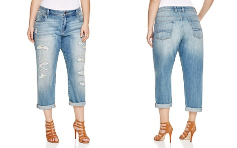 Lucky Brand Plus Reese Distressed Boyfriend Jeans in San Marcos - Bloomingdale's_2