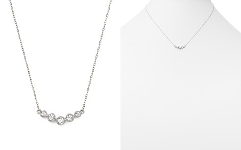 Diamond Graduated Bezel Necklace in 14K White Gold, .25 ct. t.w. - 100% Exclusive - Bloomingdale's_2