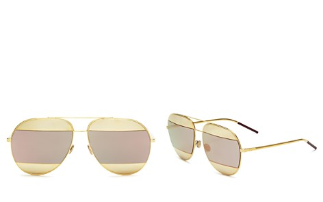 Dior Split Mirrored Aviator Sunglasses, 59mm - Bloomingdale's_2