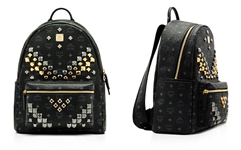 "MCM Visetos Stark ""M"" Stud Backpack - Bloomingdale's_2"