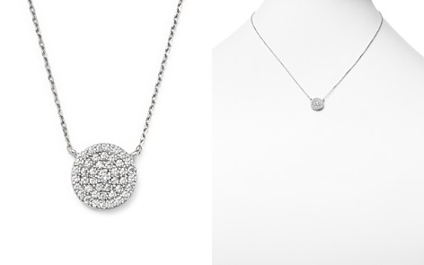 Diamond Disc Pendant Necklace in 14K White Gold, .50 ct. t.w. - Bloomingdale's_2