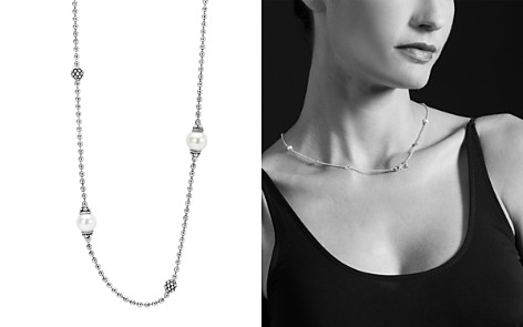 "LAGOS Sterling Silver Luna Cultured Freshwater Pearl Station Necklace, 18"" - Bloomingdale's_2"
