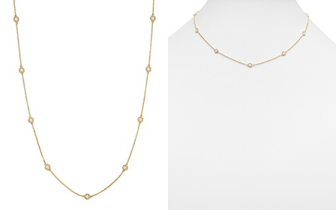 "Roberto Coin 18K Yellow Gold Barocco Diamond Necklace, 16"" - Bloomingdale's_2"