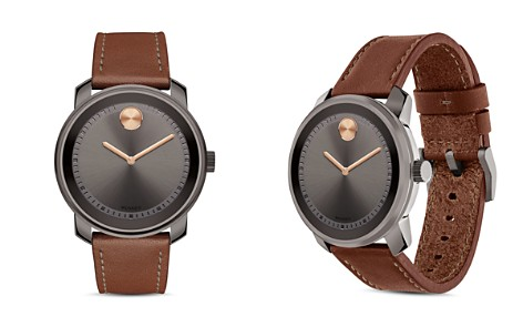 Movado BOLD Museum Dial Watch with Leather Strap, 42.5mm - Bloomingdale's_2