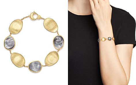 Marco Bicego 18K Yellow Gold Lunaria Bracelet with Black Mother-of-Pearl - 100% Exclusive - Bloomingdale's_2