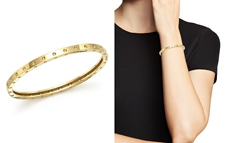Roberto Coin 18K Yellow Gold Symphony Dotted Bangle Bracelet - Bloomingdale's_2