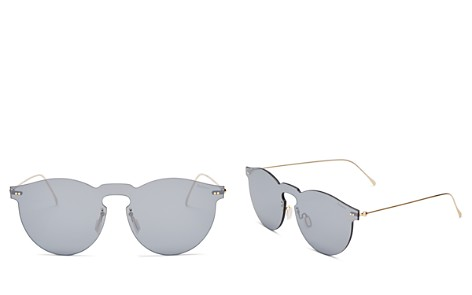 Illesteva Leonard Mask Mirrored Sunglasses, 55mm - Bloomingdale's_2