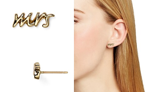 kate spade new york Say Yes Mrs. Stud Earrings - Bloomingdale's_2
