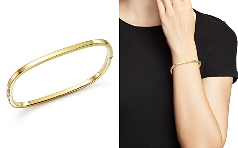 Roberto Coin 18K Yellow Gold Square Bangle - Bloomingdale's_2