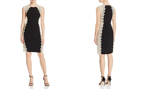 Avery G Contrast Lace Dress - Bloomingdale's_2