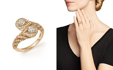 Diamond Two Stone Bypass Ring in 14K Yellow Gold, 1.0 ct. t.w. - 100% Exclusive - Bloomingdale's_2