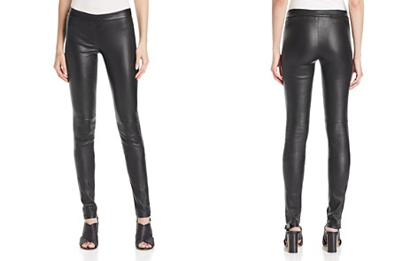 Theory Adbelle Leather Pants - Bloomingdale's_2