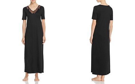 Hanro Valencia Short Sleeve Long Gown - Bloomingdale's_2