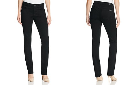 7 For All Mankind b(air) Kimmie Straight Leg Jeans in Black - Bloomingdale's_2