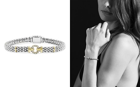 LAGOS 18K Gold and Sterling Silver Caviar and Diamonds Rope Bracelet, 6mm - Bloomingdale's_2