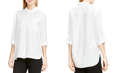VINCE CAMTUO Roll Sleeve Utility Shirt - Bloomingdale's_2