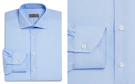 Canali Crosshatch Textured Solid Regular Fit Dress Shirt - Bloomingdale's_2